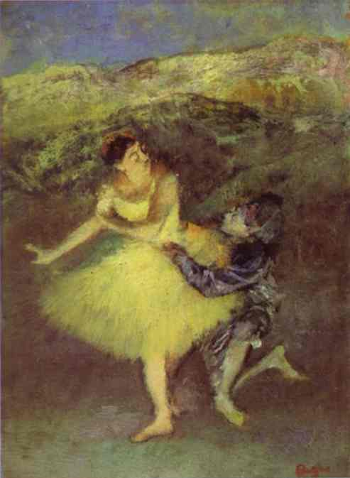 famous painting Harlequin and Colombine of Edgar Degas