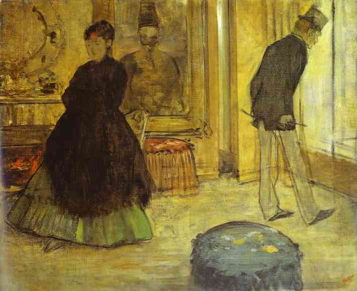 famous painting Interior with Two People (Intérieur avec deux personnages) of Edgar Degas