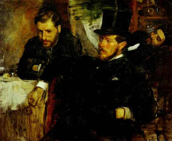 famous painting Jeantaud, Linet and Laine of Edgar Degas