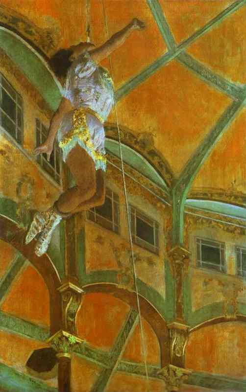 famous painting Mlle La La at the Circus Fernando of Edgar Degas