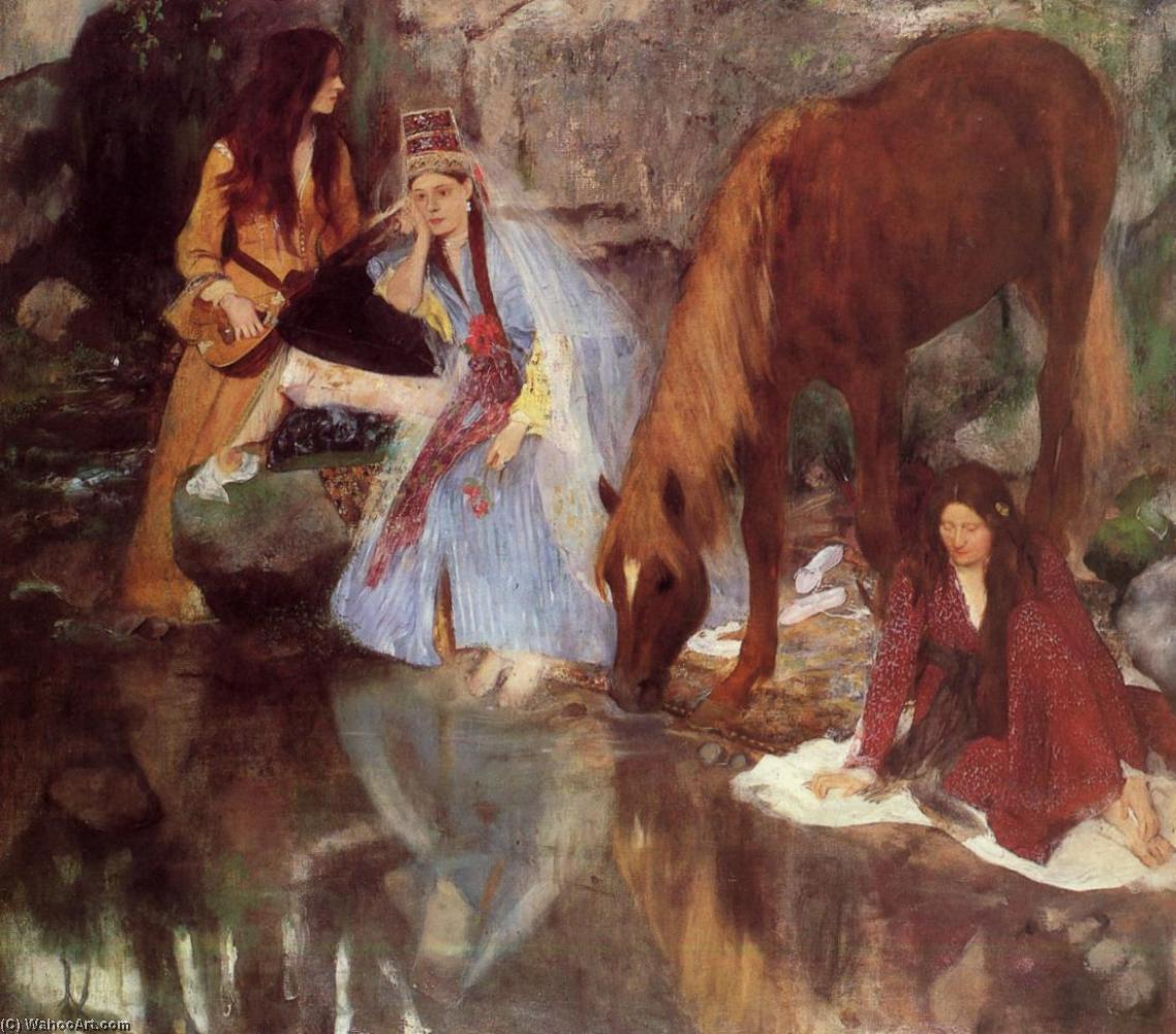 famous painting Mme Eugenie Fiocre in the Ballet La Source of Edgar Degas