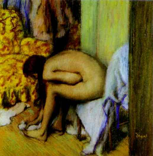 famous painting Nude Wiping Her Foot of Edgar Degas