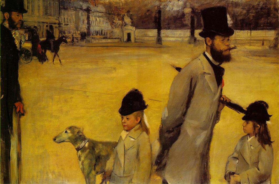 famous painting Place de la Concorde of Edgar Degas