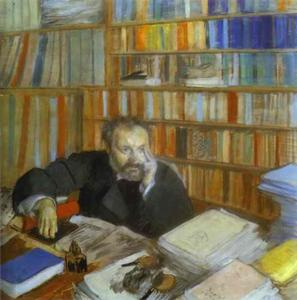Edgar Degas - Portrait of Edmond Duranty