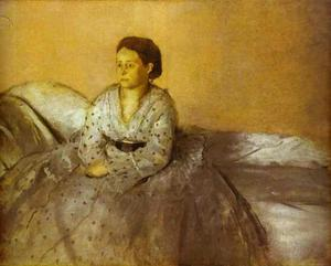 Edgar Degas - Portrait of Estelle Musson, Madame Rene de Gas