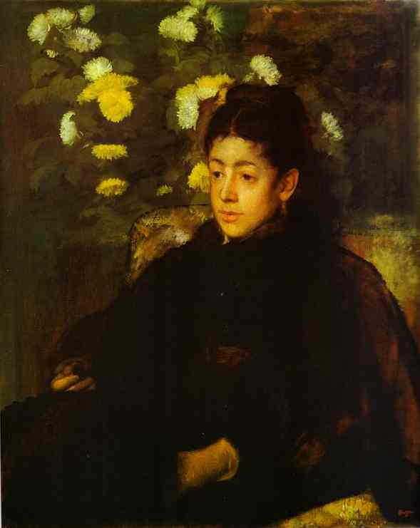famous painting Portrait of Mademoiselle Malo of Edgar Degas