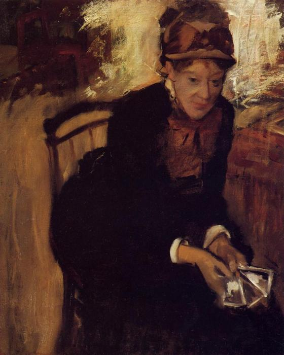 famous painting Portrait of Mary Cassatt of Edgar Degas