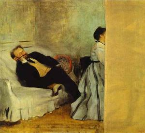 Edgar Degas - Portrait of Monsieur and Madame Edouard Manet