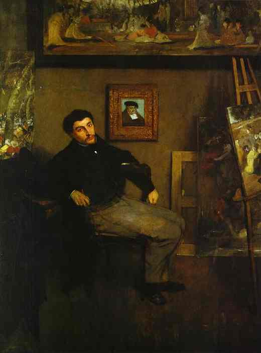 famous painting Portrait of the Artist James Tissot of Edgar Degas