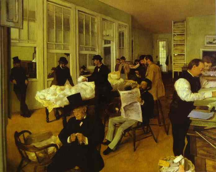 famous painting Portraits in a New Orleans Cotton office of Edgar Degas