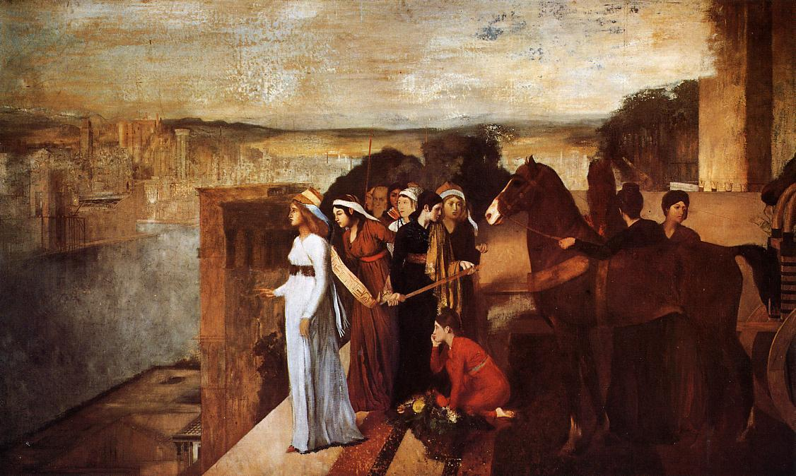famous painting Semiramis Building Babylon of Edgar Degas