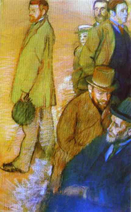 famous painting Six Friends of the Artists of Edgar Degas