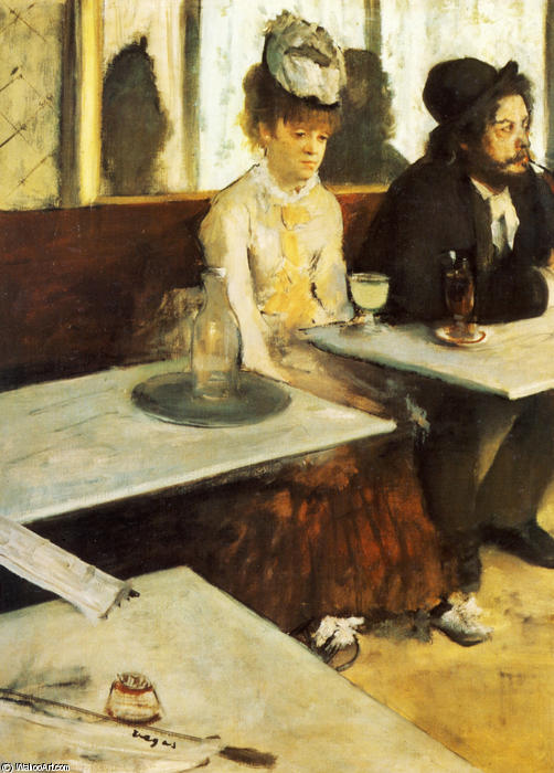 famous painting The Absinthe Drinker of Edgar Degas
