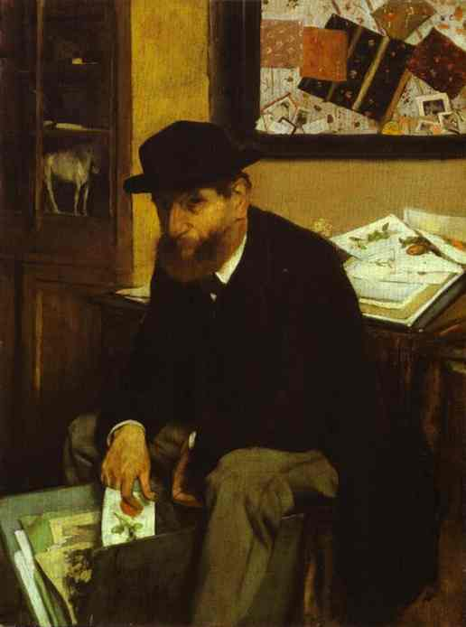 famous painting The Collector of Edgar Degas