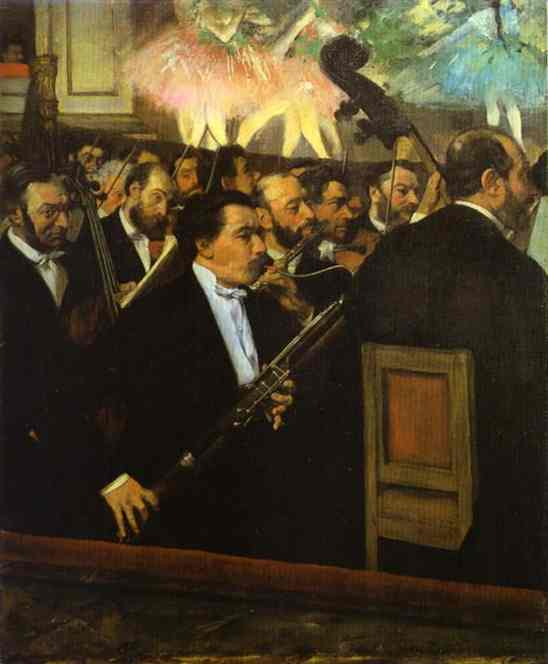 famous painting The Orchestra at the Opera House of Edgar Degas