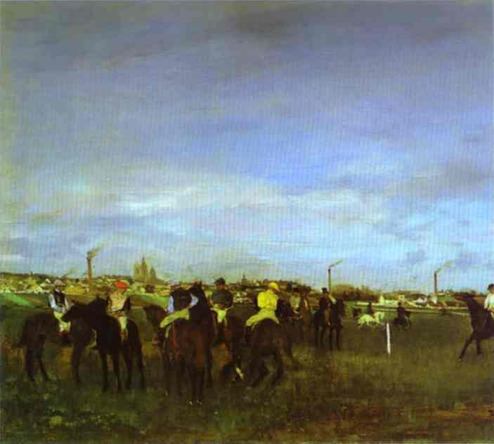 famous painting The Races. Before the Start of Edgar Degas