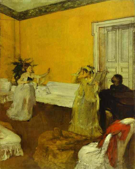 famous painting The Song Rehearsal of Edgar Degas