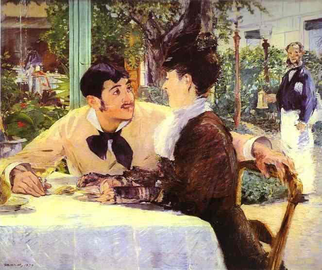 famous painting At Père Lathuille's of Edouard Manet