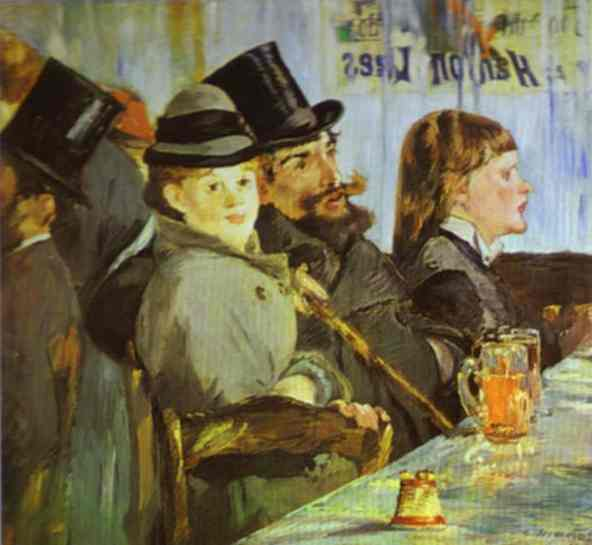 famous painting At the Café of Edouard Manet