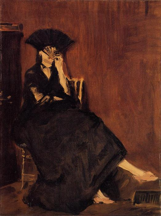 famous painting Berthe Morisot with a Fan of Edouard Manet