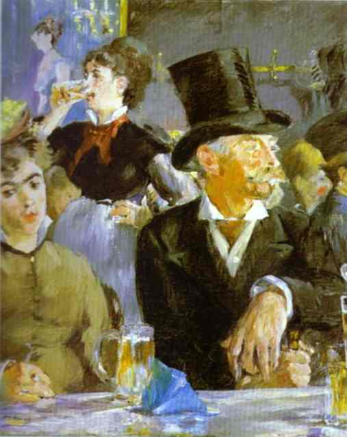 famous painting Bock Drinkers of Edouard Manet