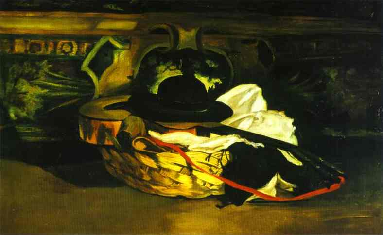 Order Art Reproductions Impressionism : Guitar and Hat by Edouard Manet | TopImpressionists.com