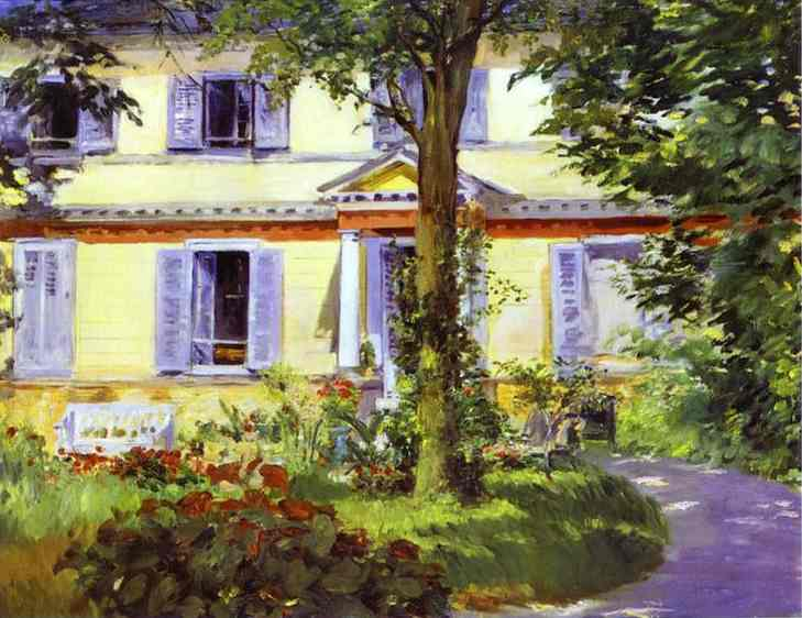 famous painting House at Rueil of Edouard Manet