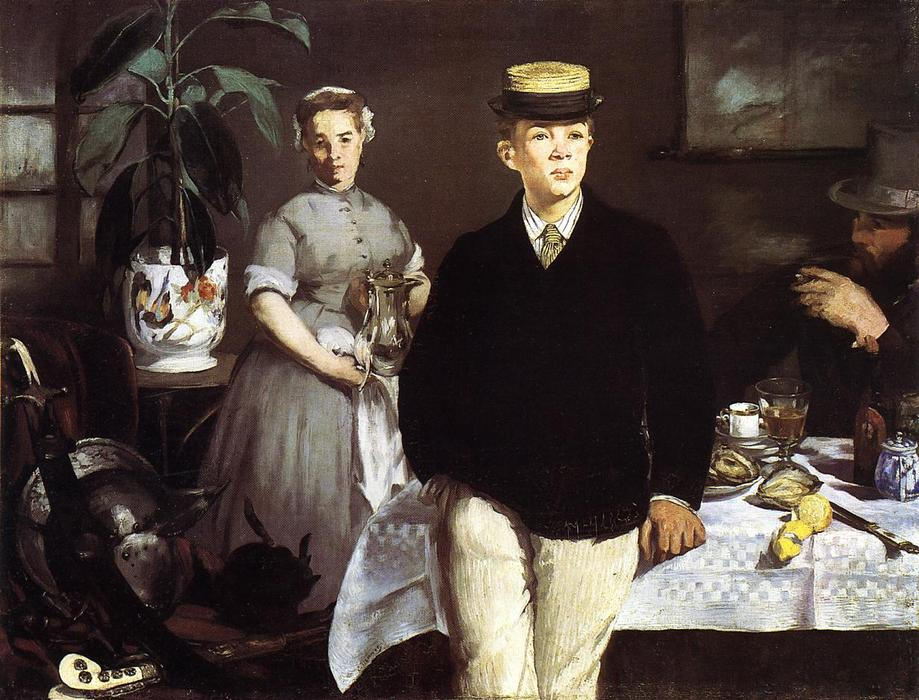 famous painting Luncheon in the Studio of Edouard Manet