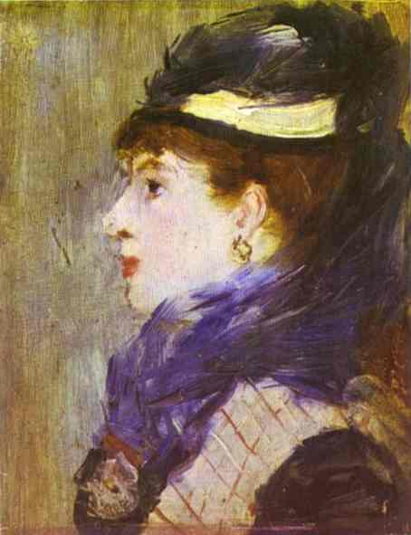 famous painting Portrait of a Lady of Edouard Manet