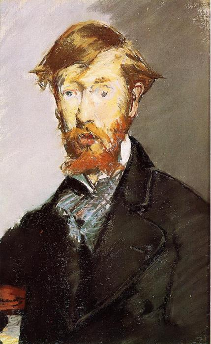 famous painting Portrait of George Moore of Edouard Manet