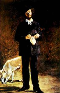 Edouard Manet - Portrait of Gilbert-Marcellin Desboutin