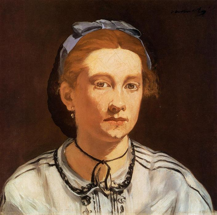 famous painting Portrait of Victorine Meurent of Edouard Manet