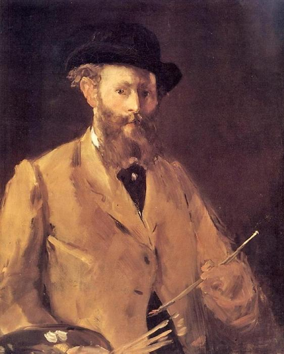 famous painting Self Portrait with a Palette of Edouard Manet