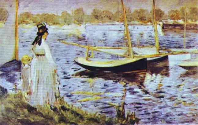 famous painting The Banks of the Seine at Argenteuil of Edouard Manet