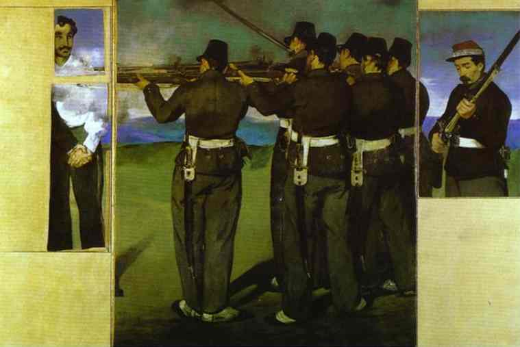 famous painting The Execution of Emperor Maximilian (four fragments) of Edouard Manet