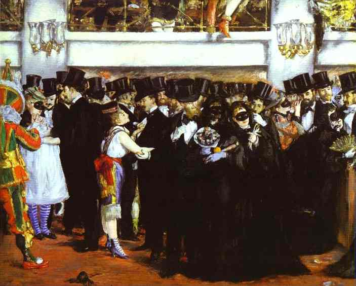 famous painting The Masked Ball at the Opera of Edouard Manet