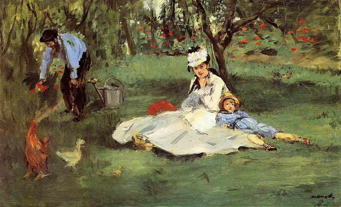 famous painting The Monet Family in the Garden of Edouard Manet
