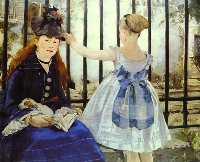 famous painting The Railway of Edouard Manet