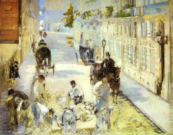 famous painting The road-menders, Rue de Berne of Edouard Manet