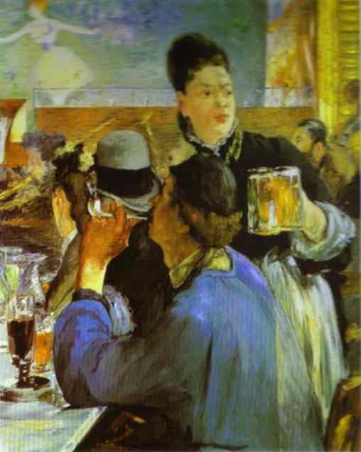 famous painting The Waitress of Edouard Manet
