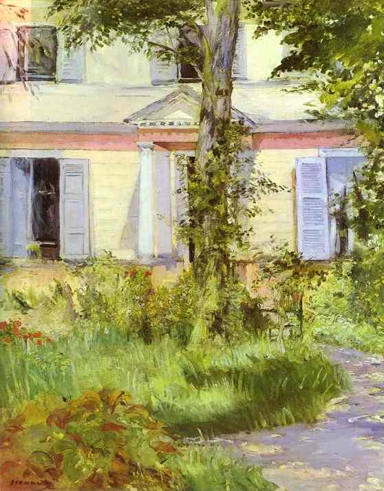 famous painting Villa at Rueil of Edouard Manet