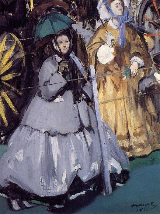 famous painting Women at the Races of Edouard Manet