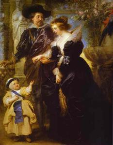 Peter Paul Rubens - Rubens, his wife Helena Fourment, and their son Peter Paul