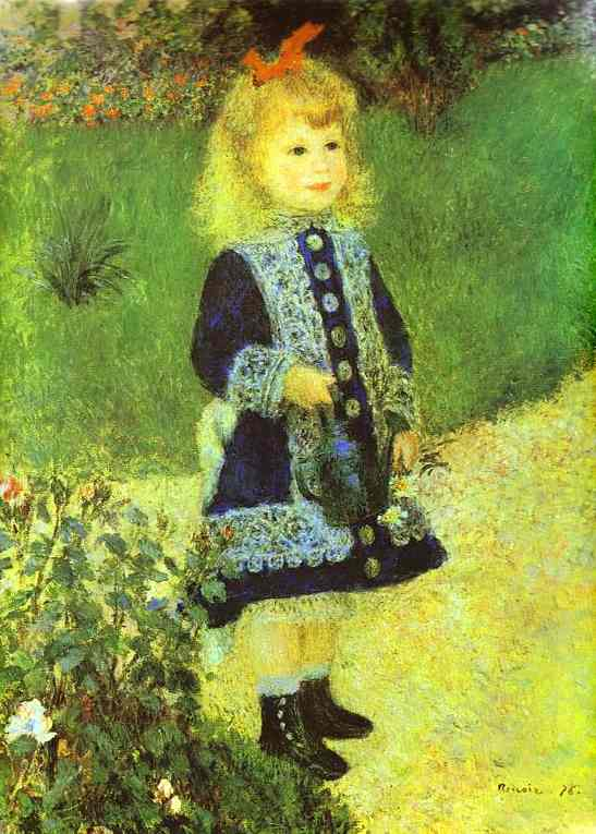 famous painting A Girl with a Watering-Can of Pierre-Auguste Renoir