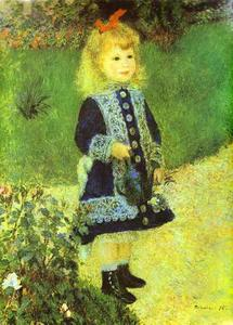 Pierre-Auguste Renoir - A Girl with a Watering-Can