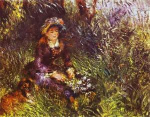 Pierre-Auguste Renoir - A Woman with A Dog (Portrait of Madame Renoir)