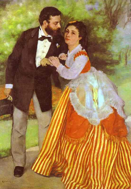 famous painting Alfred Sisley and His Wife of Pierre-Auguste Renoir