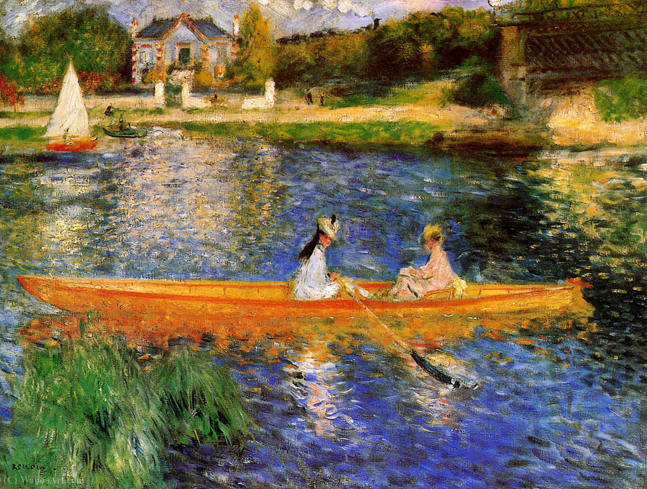 famous painting Banks of the Seine at Asnieres of Pierre-Auguste Renoir