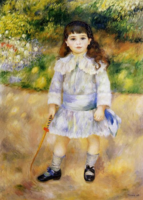 famous painting Child with a Whip of Pierre-Auguste Renoir