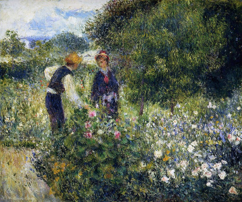famous painting Conversation with the Gardener of Pierre-Auguste Renoir